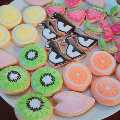 ペンギンのアイシングクッキー